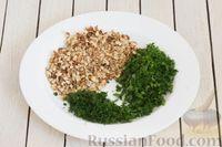Фото приготовления рецепта: Салат с цветной капустой, грецкими орехами и зеленью - шаг №6