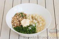 Фото приготовления рецепта: Салат с цветной капустой, грецкими орехами и зеленью - шаг №7