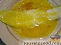 """Фото приготовления рецепта: Жареные кабачки """"Тещин язык"""" - шаг №8"""