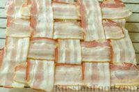 Фото приготовления рецепта: Киш с брокколи в яично-сырной заливке и беконом - шаг №10