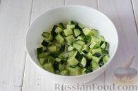 Фото приготовления рецепта: Крем-суп из свежих огурцов и картофеля - шаг №7