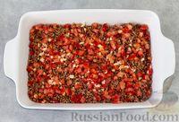 Фото приготовления рецепта: Гречка с мясом, сладким перцем и помидором (в духовке) - шаг №9