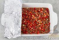 Фото приготовления рецепта: Гречка с мясом, сладким перцем и помидором (в духовке) - шаг №10