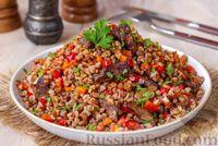 Фото приготовления рецепта: Гречка с мясом, сладким перцем и помидором (в духовке) - шаг №12