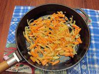 Фото приготовления рецепта: Куриный суп с шампиньонами и баклажанами - шаг №11