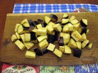 Фото приготовления рецепта: Куриный суп с шампиньонами и баклажанами - шаг №12