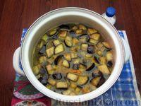 Фото приготовления рецепта: Куриный суп с шампиньонами и баклажанами - шаг №16