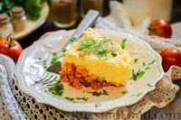 """Фото приготовления рецепта: Картофельная запеканка с фаршем """"Пастуший пирог"""" - шаг №17"""