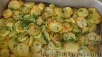 Фото приготовления рецепта: Картофель с чесноком в духовке - шаг №6