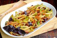 Фото приготовления рецепта: Картошка, жаренная со сладким перцем - шаг №13