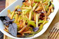 Фото приготовления рецепта: Картошка, жаренная со сладким перцем - шаг №14