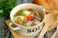 Фото приготовления рецепта: Суп с куриными желудками, цветной капустой и кускусом - шаг №14