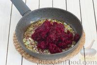 Фото приготовления рецепта: Закусочный свекольный манник с сыром - шаг №7