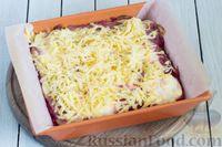 Фото приготовления рецепта: Закусочный свекольный манник с сыром - шаг №13