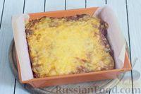Фото приготовления рецепта: Закусочный свекольный манник с сыром - шаг №14