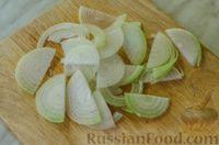 """Фото приготовления рецепта: Мясная """"гармошка"""", запечённая с яблоками и овощами - шаг №8"""