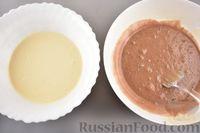 Фото приготовления рецепта: Двухцветный рулет с шоколадом - шаг №6