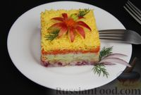 Фото приготовления рецепта: Слоёный салат с яблоками, морковью, сыром и яйцами - шаг №13
