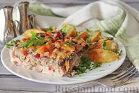 Фото приготовления рецепта: Куриное филе, запечённое с брусникой и грибами - шаг №9