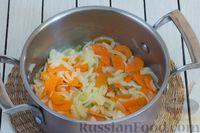 Фото приготовления рецепта: Овощное рагу с  кабачками, сладким перцем, белокочанной и цветной капустой - шаг №3