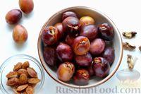 Фото приготовления рецепта: Варенье из слив, фаршированных грецкими орехами - шаг №10