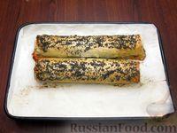 Фото приготовления рецепта: Рулет из лаваша с маковой начинкой - шаг №12