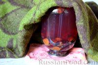 Фото приготовления рецепта: Компот из винограда и слив на зиму - шаг №16