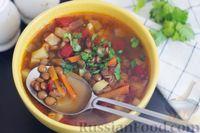 Фото приготовления рецепта: Овощной суп с чечевицей - шаг №9