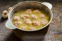 Фото приготовления рецепта: Сливочный суп  с мясными фрикадельками - шаг №13