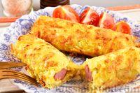 """Фото приготовления рецепта: Сосиски в картофельной """"шубке"""" - шаг №11"""