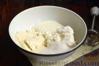 """Фото приготовления рецепта: Кофейно-ванильная творожная запеканка """"Зебра"""" - шаг №2"""