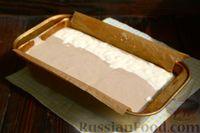"""Фото приготовления рецепта: Кофейно-ванильная творожная запеканка """"Зебра"""" - шаг №7"""