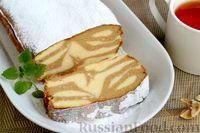 """Фото приготовления рецепта: Кофейно-ванильная творожная запеканка """"Зебра"""" - шаг №11"""