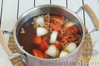 Фото приготовления рецепта: Чечевичный суп-пюре с помидорами - шаг №4
