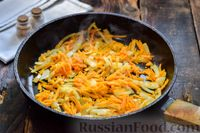 Фото приготовления рецепта: Мясные фрикадельки, запечённые в луково-морковном соусе - шаг №9