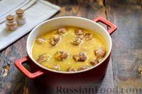 Фото приготовления рецепта: Мясные фрикадельки, запечённые в луково-морковном соусе - шаг №15