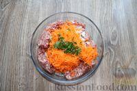 Фото приготовления рецепта: Запеканка из свиного фарша с кабачками, рисом и брусникой - шаг №4