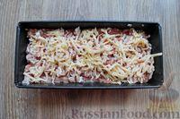 Фото приготовления рецепта: Запеканка из свиного фарша с кабачками, рисом и брусникой - шаг №11