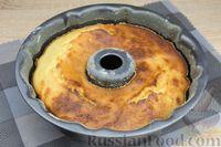 Фото приготовления рецепта: Лимонный манник на кефире (без муки) - шаг №12