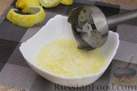 Фото приготовления рецепта: Лимонный манник на кефире (без муки) - шаг №5