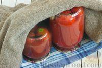 Фото приготовления рецепта: Помидоры в томатном соке на зиму - шаг №9