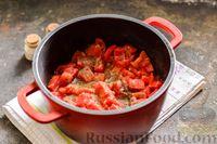 Фото приготовления рецепта: Тушёная говядина в соусе из помидоров - шаг №11