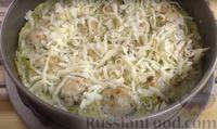 Фото приготовления рецепта: Запеканка из кабачков с фрикадельками - шаг №8