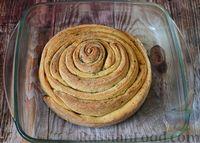Фото приготовления рецепта: Чесночный хлеб «Улитка» - шаг №14