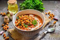 Фото приготовления рецепта: Пряный свекольный крем-суп с обжаренным нутом - шаг №14