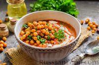 Фото приготовления рецепта: Пряный свекольный крем-суп с обжаренным нутом - шаг №15
