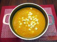 Фото приготовления рецепта: Морковный суп-пюре с яблоками и моцареллой - шаг №9