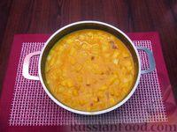 Фото приготовления рецепта: Морковный суп-пюре с яблоками и моцареллой - шаг №11