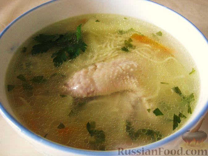 Домашний суп с курицей