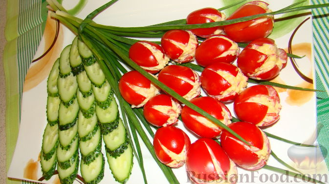 Закуски с помидорами - рецепты с фото 77